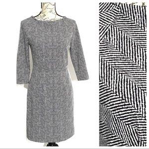 Limited Sheath Mini Geometric Dress Black White 4